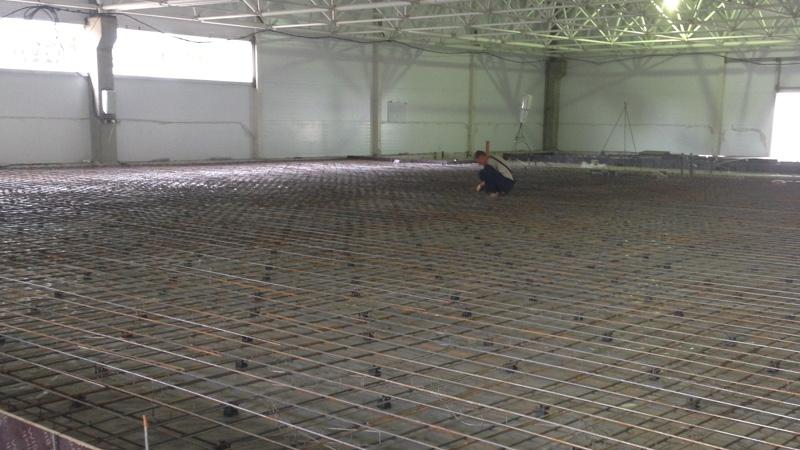 армирование бетонного основания