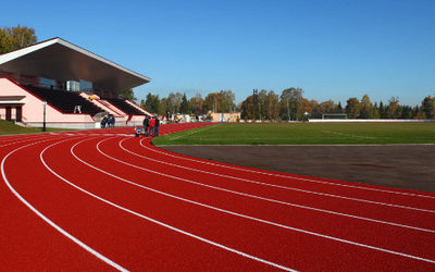 Резиновое покрытие для открытых спортивных площадок: основные виды
