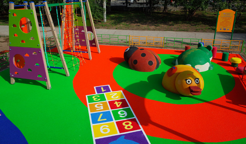 резиновое покрытие для детских площадок