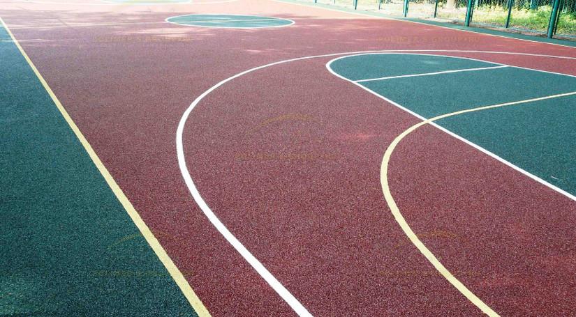 Резиновое покрытие для открытых спортивных площадок